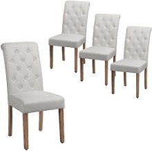 Classic Fabric Upholstered Dining Chairs Spring