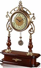 Classic Fireplace Clock Pure Copper Pendulum Clock