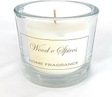 Classic Glass Spice Wood Scented Jar Candle The