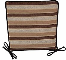 Classic Home Store Striped Square Seat Pad Outdoor