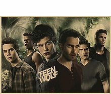Classic Movie Teen Wolf Poster Retro Art Decor