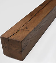 Classic Oak Fireplace Beam - Jacobean Finish