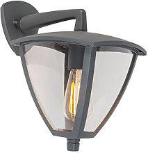 Classic outdoor lantern wall down dark gray IP44 -