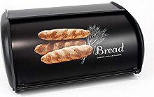 Classic Silver Stainless Steel Kitchen Bread Bin