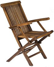 Classic Solid Teak Wooden Folding Outdoor Chair -
