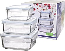 Classic Square 6 Piece Food Storage Container Set