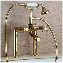 Classic style deck-mounted tub faucet in solid