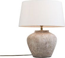 Classic table lamp brown with white shade - Inca XS