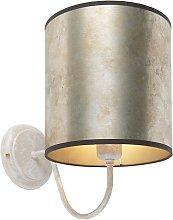 Classic wall lamp beige with zinc shade - Matt