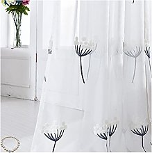 Classical Solid Voile Sheer Dandelion Christmas