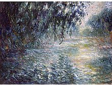 Claude Monet Morning On The Seine Large Wall Art