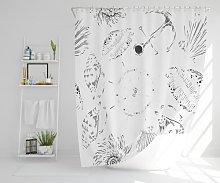 Claudia Polyester Shower Curtain Set Longshore