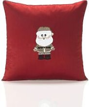 Claus Red Cushion Cover 18' Bed Sofa Accessory