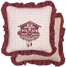 clayre & Eef - Cotton Cushion Cover Cuckoo Clock