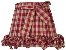 clayre & Eef - Fabric Lampshade with Bow - Gingham
