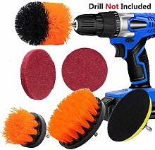 Cleaning Brush Set for Cordless Drill and Electric