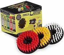Cleaning Supplies - Drill Brush - 3 Brush Kit -
