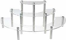 Clear Acrylic 3 Tier Half Moon Shelf Unit, Table