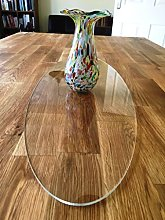 Clear Acrylic Oval Table Runner - Large - 60 x 22