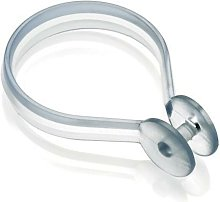 Clear Button Shower Curtain Rings Hooks Universal