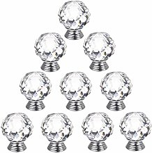 Clear Crystal Glass Door Knobs Kitchen Cabinet
