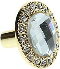 Clear Crystal Glass Door Knobs Round Diamond