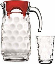 Clear Glass Fridge Water Jug Pitcher Beverage