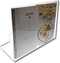 Clear Perspex Acrylic Plastic Cook Book Holder