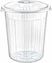 Clear Plastic Bin Rubbish Waste Recycling Dustbin