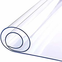 Clear Plastic Table Cloth Cover Wipeable Strong
