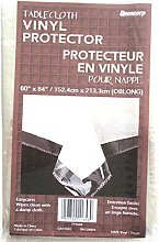 Clear Plastic Tablecloth Protector 60 X 84 Oblong