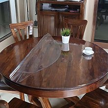 Clear Pvc Table Protector Tablecloth, Plastic