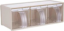 Clear Seasoning Rack Spice Jar Boxes Pepper Herb