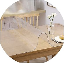 Clear Table Protector Plastic Tablecloth Desk
