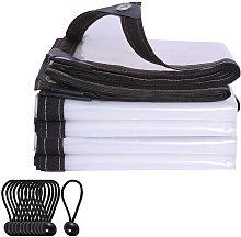 Clear Waterproof Cover Tarp with Elastic Ties