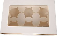 Clear Window Cupcake Boxes With Removable 6 Holes