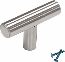 ClearloveWL Drawer handles, 4 Pieces Stainless