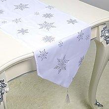 CLEAVE WAVES Christmas Table Runner, Snowflake
