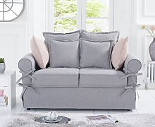 Clemence Grey Linen 2 Seater Sofa