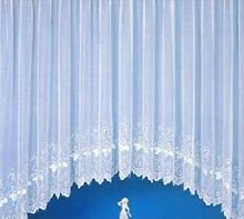 Cleo White Pure Voile Jardiniere Curtain B42 -