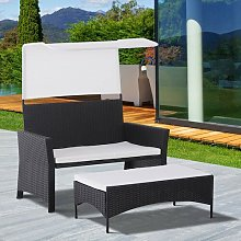 Cleveland 2 Seater Rattan Sofa Set Sol 72 Outdoor