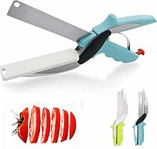 Clever Food Choppers Slicer Cutter with Built-in