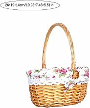 Clevoers Wicker Basket Storage Willow Woven Empty