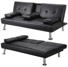 Click Clack Sofa Bed Faux Leather 3 Seater Sofa