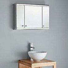 Clickbasin 3 Door Wall Mounted Mirror Bathroom