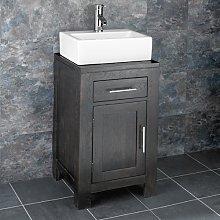 clickbasin 450mm Square Freestanding Wenge Oak