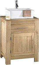 clickbasin Alta 600mn Wide Solid Oak Single Door