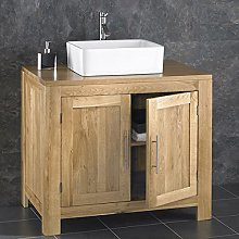 clickbasin Alta 900mm Solid Oak Double Door
