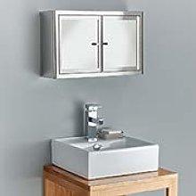 Clickbasin Bathroom Mirror 2 Door Bathroom Storage