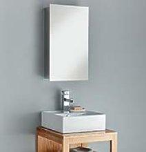 Clickbasin Bathroom Mirror Wall Storage Cabinet